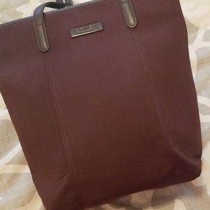 Coach lookalike brown fabric shoulder bag